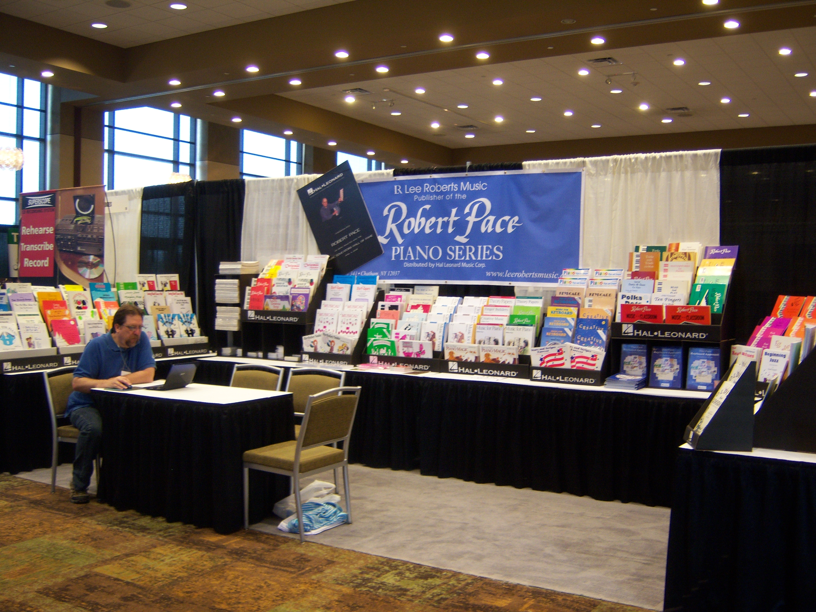 Lee Roberts Music Booth at 2011 National Keyboard Pedagogy Conference