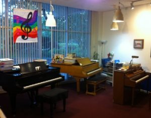3 pianos at Lakes Shore Music Studio