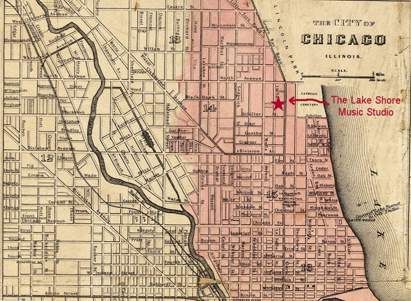 Location Of LSMS In Relation To Great Chicago Fire The Lake - Chicago map location